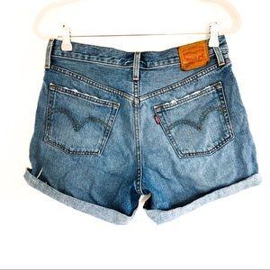 {LEVI'S} 501 Button Fly Cut-Off Denim Jean Shorts